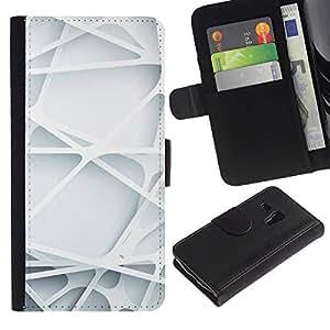Samsung Galaxy S3 MINI / i8190 (Not For Galaxy S3) Modelo colorido cuero carpeta tirón caso cubierta piel Holster Funda protección - Engineering Lines Clean Minimalist