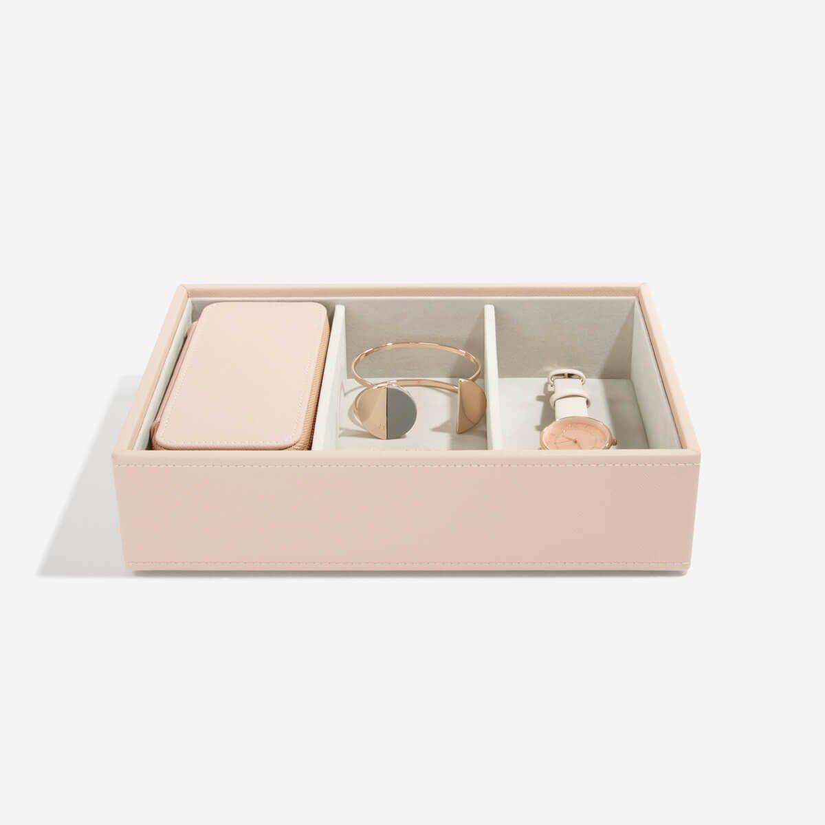 Stackers Blush Pink Medium Travel Jewellery Box