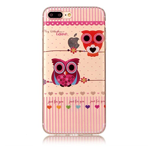"Hülle iPhone 7 Plus / iPhone 8 Plus , LH Eule TPU Weich Muschel Tasche Schutzhülle Silikon Handyhülle Schale Cover Case Gehäuse für Apple iPhone 7 Plus / iPhone 8 Plus 5.5"""