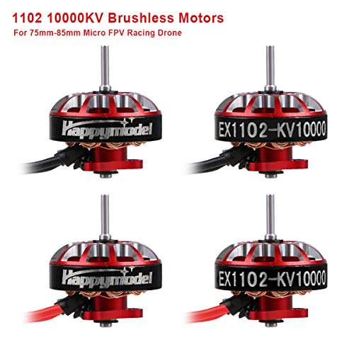 4pcs 1102 10000KV Brushless Motors 2S-3S EX1102 Micro Drone Motor for FPV Racing Tiny Whoop 66mm Ductless Frame 75mm-85mm Micro FPV Racing Drone