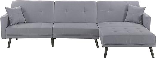 Amazon.com: Housel Living HSL132-FB - Sofá, Madera Textil ...