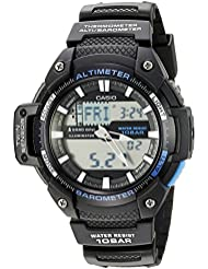Casio Mens SGW-450H-1ACF Twin Sensor Analog-Digital Display Quartz Black Watch