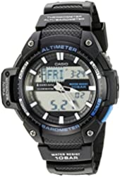 Casio Men's SGW-450H-1ACF Twin Sensor Analog-Digital Display Quartz Black Watch