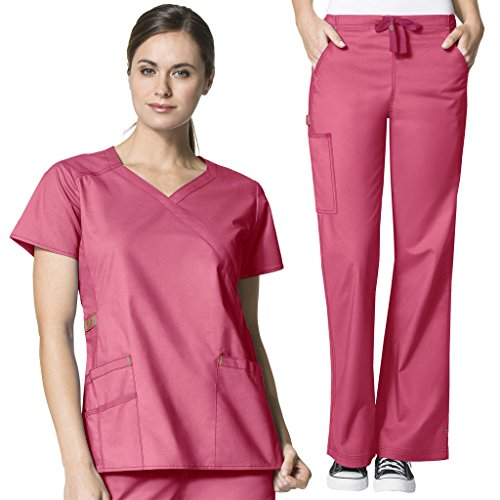 WonderWink Womens Scrubs Y Neck Flare