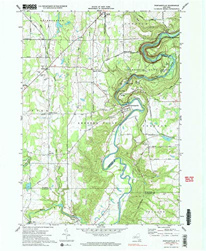YellowMaps Portageville NY topo map, 1:24000 Scale, 7.5 X 7.5 Minute, Historical, 1972, Updated 1983, 26.8 x 22 in - Polypropylene
