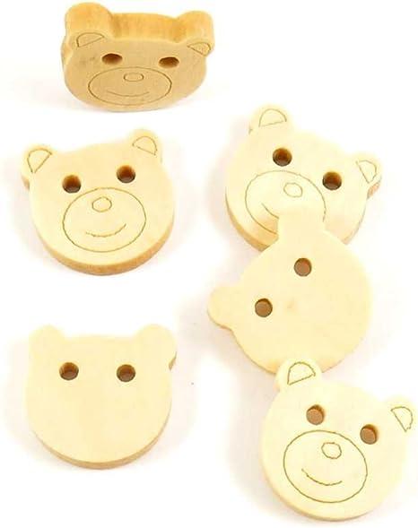 Botones de costura coser en embalaje oso de peluche grande color ...