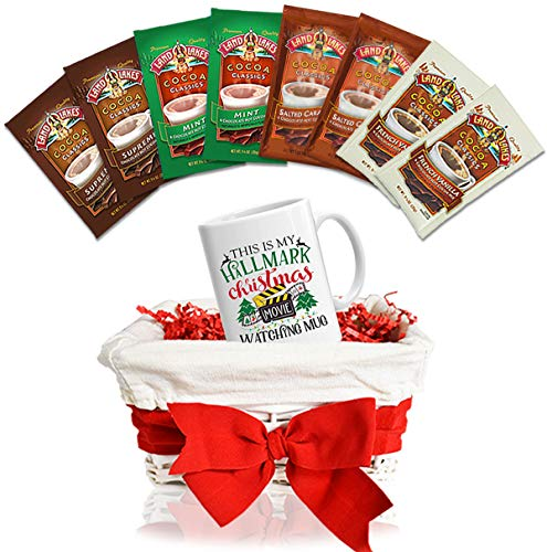 Land O Lakes Hot Chocolate Mix Limited Time Pack of 8 with Christmas Mugs and Gift Baskets.