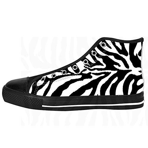 Di Stampa Canvas Scarpe Women's Zebra Shoes Lacci Alto Delle I Custom Da Tetto Ginnastica 5pAqn
