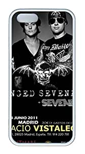 TPU White Color Soft Case For iPhone 5S Super Soft Ultra-thin Phone Case Suit iPhone5/5S Very Fine Workmanship Case Easy To Operate Avenged Sevenfold 6