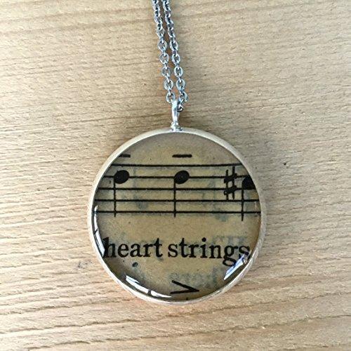 (Heartstrings Sheet Music Necklace)