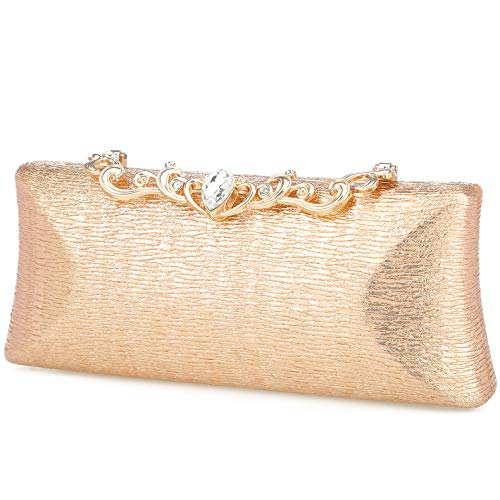 Champagne clutch purses for women evening bags and clutches for women evening bag purses and handbags evening clutch purse(Champagne)