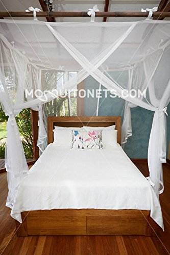 Mosquito NET Bed Canopy | Queen Size Bed Net | Easy Care Machine Washable Mosquito Netting | Secure Insect Protection with The Designer Mosquito net by MosquitoNets (Image #2)