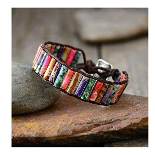(YGLINE Beaded Wrap Bracelet for Women Gemstone Beads Leather Bracelet Stone Beads Wrap Bracelet ...)