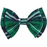 "Amscan St. Patrick's Day Plaid Bow Tie party-supplies, 3 1/2"" x 5"", Green"