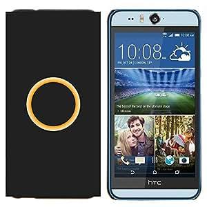 KLONGSHOP // Cubierta de piel con cierre a presión Shell trasero duro de goma Protección Caso - anillo - HTC Desire Eye M910x //