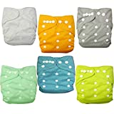 Alva Baby Pocket Washable Adjustable Reuseable Cloth Diapers Nappies 6PCS + 12 Inserts 6BM98-CA