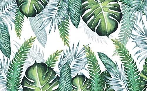 Duvarkapla Yesil Palmiye Yaprak Desenler Duvar Kagidi Tropikal