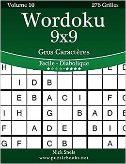 Wordoku 9x9 Gros Caracteres Facile A Diabolique Volume