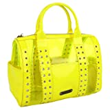 Betsey Johnson BH77225 Satchel,Yellow,One Size, Bags Central