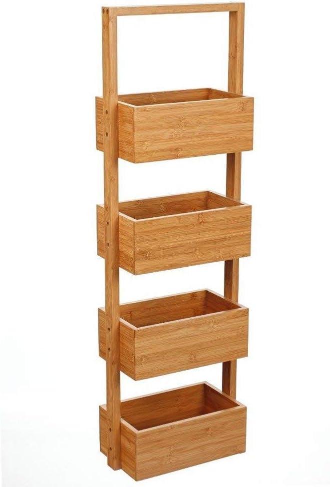 Mueble de Almacenamiento con 4 cestas de bambú.: Amazon.es: Juguetes y juegos
