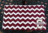 College of Charleston Chevron laminated place mats - Set of 4