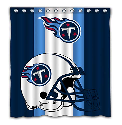Potteroy Tennessee Titans Team Simple Design Shower Curtain Waterproof Polyester Fabric 66x72 Inches