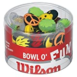 Wilson Sporting Goods Bowl of Fun Tennis Vibration Dampeners (75-Piece)