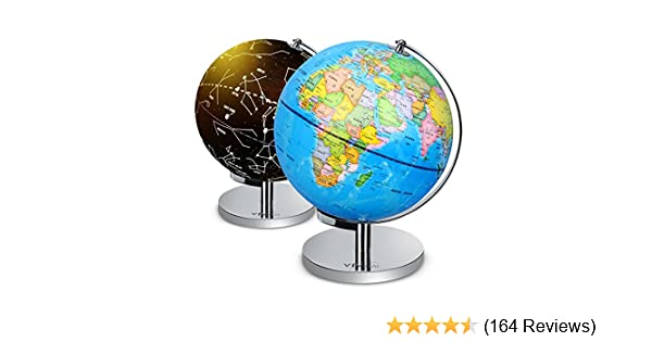 Amazon illuminated world globe 2 in 1 globe with plug amazon illuminated world globe 2 in 1 globe with plug daytime view 9 world globe night view stars and constellations globe built in led bulb gumiabroncs Gallery