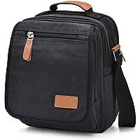 GRM Mens Canvas Messenger Crossbody Bag (Black)