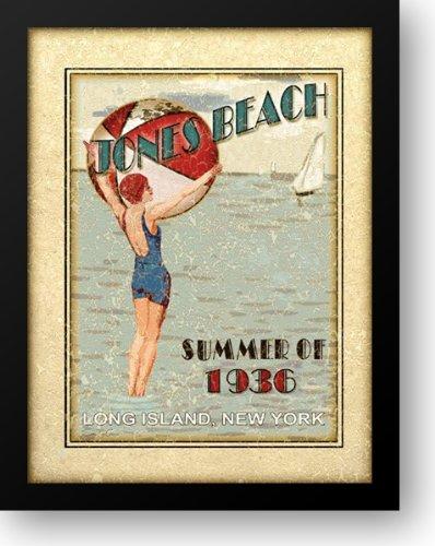 Sally ray Cairns - Jones Beach 20x24 Framed Art Print by Cairns, Sally - Rays Cairns