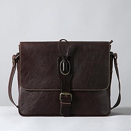 Los hombres de cuero original bolso Messenger bag mochila retro arte Bolsa Bolsa de hombre de