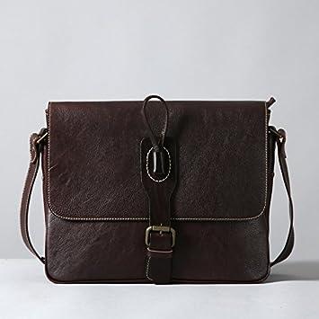 Los hombres de cuero original bolso Messenger bag mochila ...