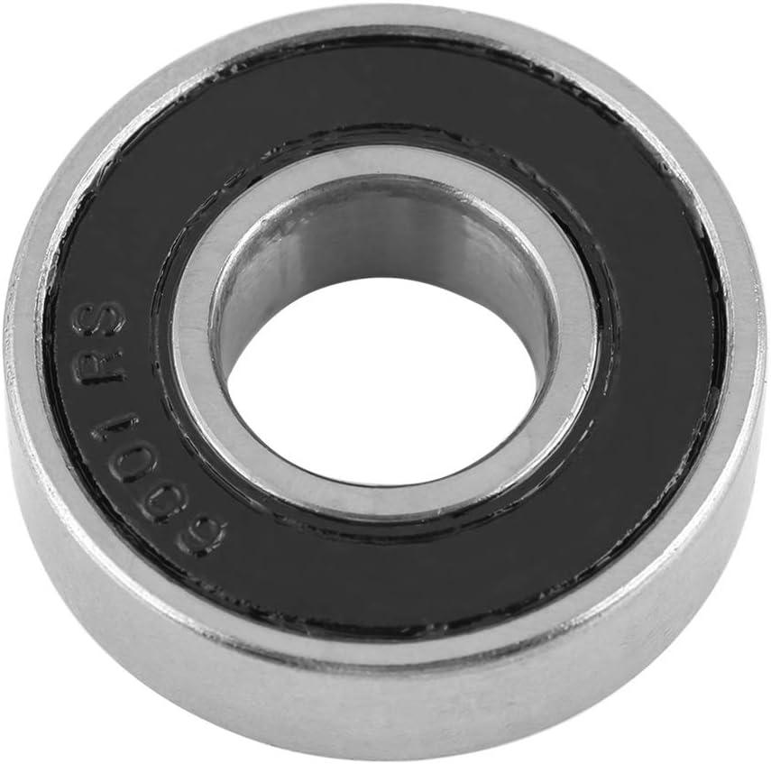 10Pcs 6001-2RS abgedichtete Lager Durable Multi-Use-Gummi-Dichtung Lager Rillenkugellager 12x28x8mm Kugellager