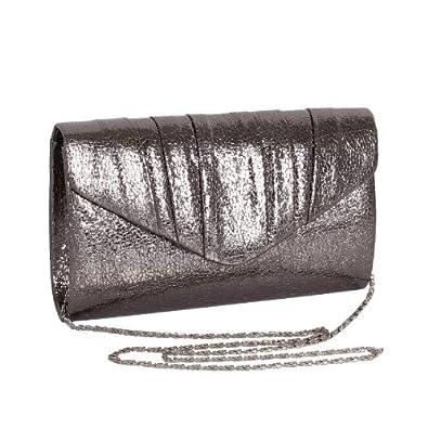 Pewter Metallic Clutch Bag: Amazon.co.uk: Shoes & Bags