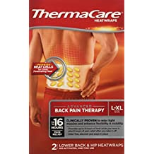 ThermaCare Lower Back & Hip Heat Wraps, Large-XL, Pack of 12 Heat Wraps (Packaging May Vary)