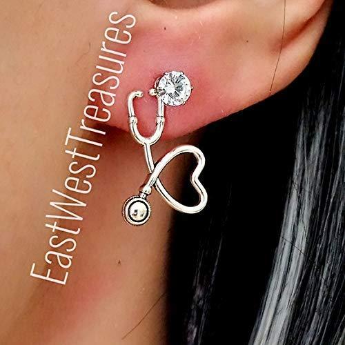 stethoscope PA MA RN Nurse Doctor Scrubs earrings New Doctor Earrings For Women her Scrub Nurse earrings