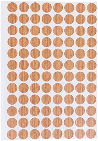 Vosarea el Agujero de Tornillo Impermeable couvre no Les Pegatinas Decorativas de Deslizamiento 15/mm 96Pcs//Sheet