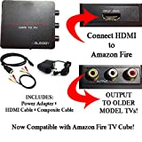 HDMI to 3RCA Composite AV Converter for Amazon Fire TV Cube and Fire TV Media Player