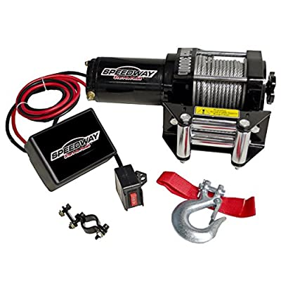 Speedway 7253 3000-Pound Line Pull Capacity Electric Winch, Black