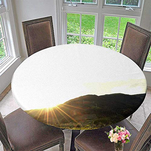 Round Polyester Tablecloth Table Cover Grape Manor for Most Home Decor 67