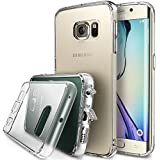 Ringke Fusion Dust Free Cap & Drop Protection Clear Back Shock Absorption Bumper Hard Case for Samsung Galaxy S6 Edge - Eco/DIY Package - Crystal View