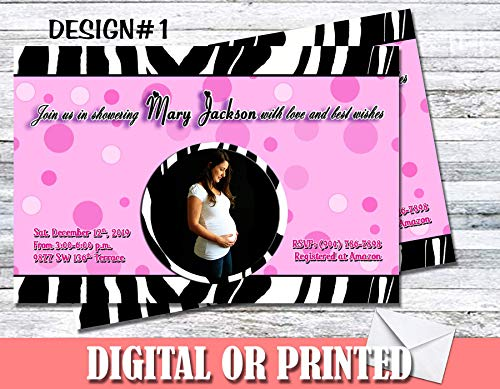 Zebra Print Baby Shower Personalized Invitations More Designs Inside! ()