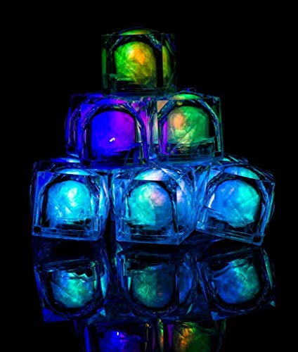 Flashing Panda Multicolor 8-Function Freezable LED Light Up Ice Cubes, Lot of 8 Cubes ()