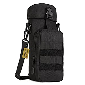 Protector Plus Tactical Water Bottle Pouch Military Shoulder Molle Pack Gear Waist Back Pack