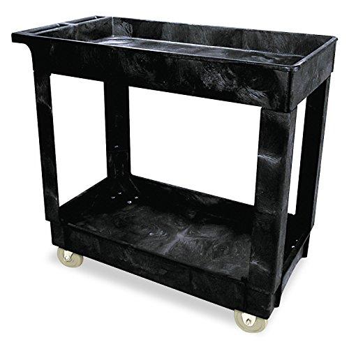 rmaid-Black 2 Shelf Cart, 16quot; x 30quot; (Rubbermaid 2 Shelf Utility Cart)