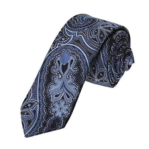 EAE2B03A Blue Patterns Microfiber Slim Neck Tie Designer Presents Popular Online By - Names Popular Designer
