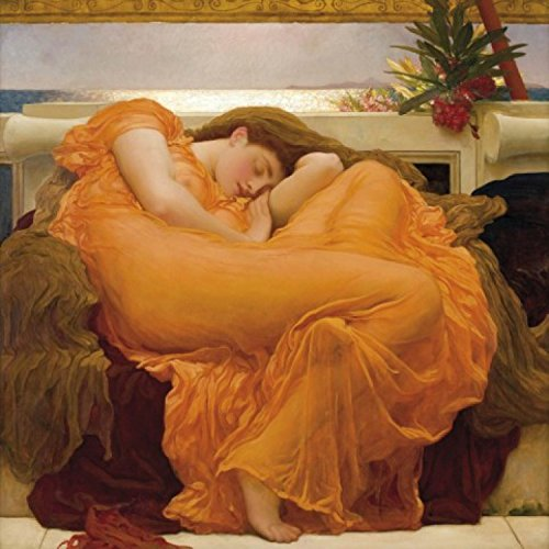 Posters: Frederic Lord Leighton Poster Art Print - Flaming June, 1895 (28 x 28 inches)