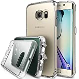 Galaxy S6 Edge Case - Ringke FUSION ***All New Dust Free Cap & Drop Protection*** [CRYSTAL VIEW] Premium Crystal Clear Back Shock Absorption Bumper Hard Case with Free Back Film for Samsung Galaxy S6 Edge - Eco/DIY Package