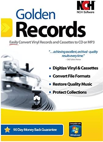 Golden Records Software for Converting Cassette Tapes and Vinyl to Mp3/Digital [Download] 51Zk-5I2BECL