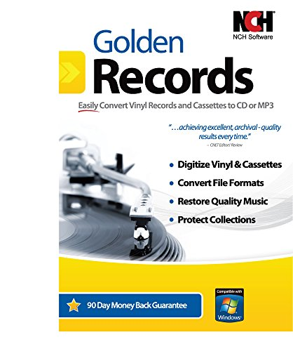 Golden Records Software for Converting Cassette Tapes and Vinyl to Mp3/Digital by NCH Software